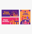 happy birthday banners collection vector image