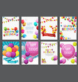 happy birthday holiday greeting and invitatio vector image vector image