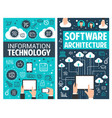 infographic design of information technology vector image vector image