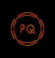 initial letter pq logo design template pq letter vector image vector image