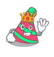 king party hat mascot cartoon vector image