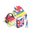 learning foreign languages concept people vector image