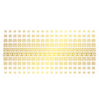 license golden halftone array vector image