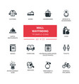 mall wayfinding - modern simple icons pictograms vector image