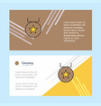medal abstract corporate business banner template vector image