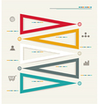 Modern box Design Minimal style infographic vector image vector image