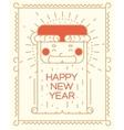 Modern New Year greeting card Funny Santa Claus vector image vector image