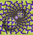 optical balls are moving in mottled hole vector image vector image