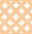 orange pastel pattern with white rhombuses vector image vector image