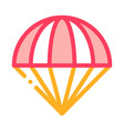 parachute icon outline vector image vector image