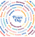 peace day greeting card for world freedom vector image vector image