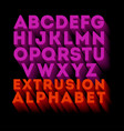 poster extruded alphabet letters vector image vector image