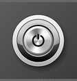 power off-on button icon - launch push button vector image vector image