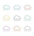 rain icon white background vector image vector image