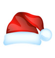 red santa claus hat isolated vector image vector image