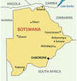 Republic of Botswana - map vector image
