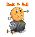 Roll sitting on rock vector image vector image