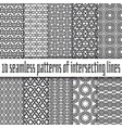 seamless pattern black lines on white backgrounds vector image vector image