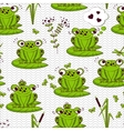 Seamless pattern - frogs vector image