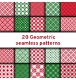 Set of 20 seamless patterns vector image