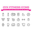 set of fitness aerobics gym elements and fitness vector image