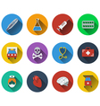 Set of medical icon in flat design vector image vector image
