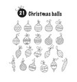 set of thin line christmas icons vector image vector image