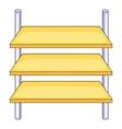 Shop shelves icon cartoon style vector image