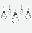 Simple bulb background vector image vector image