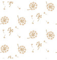 simple dandelion flower pattern design vector image vector image