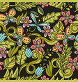 summer seamless pattern leaves butterflies vector image vector image