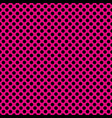tile pattern with black polka dots on pastel pink vector image vector image