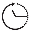time icon on white background clock icon time vector image vector image
