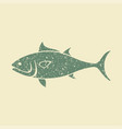 tuna fish flat icon vector image