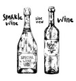 two bottle different wine vector image
