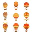Vintage Hot Air Balloons Set vector image vector image