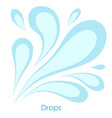 water drop on white background stylized image vector image