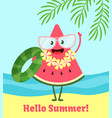watermelon summer poster poster design with vector image vector image