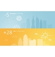 Weather widgets template winter and summer in city vector image