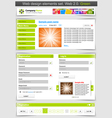 web design template set vector image