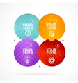 Option banner infographic concept empty vector image