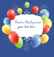 festive background with balloons vector image