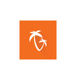 palm tree on orange vector image