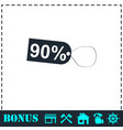 90 percent discount icon flat vector image vector image