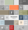 Abstract colorful info graphic elements poster vector image vector image
