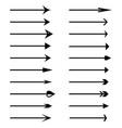 Arrow icons set of black arrows
