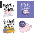 Back to school lettering set vector image vector image