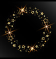 beautiful abstraction with golden stars vector image vector image