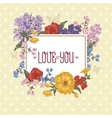 beautiful spring and summer floral bouquet vector image