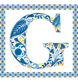 Blue letter G vector image vector image